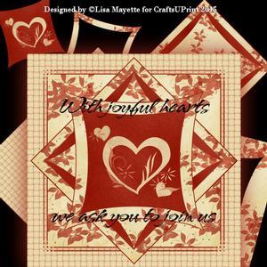 Wedding Hearts Card Making Kit
