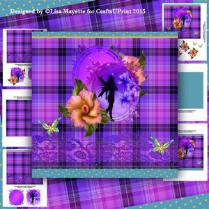 Tropical Purple Faery Card Making Kit