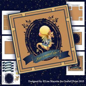 Gold Dragon & Faery Card Making Kit