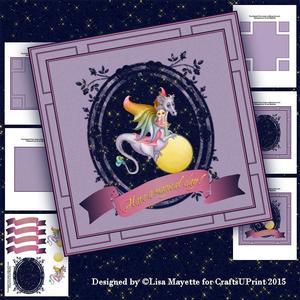 Purple Dragon & Faery Card Making Kit