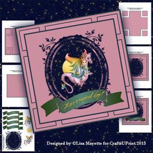 Pink Dragon & Faery Card Making Kit