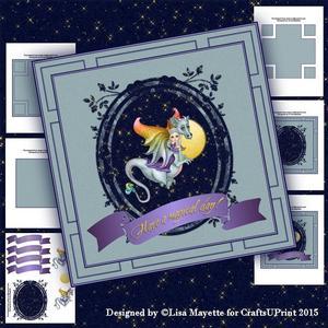 Green Dragon & Faery Card Making Kit