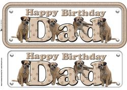 Dad & Border Terriers Name Sign
