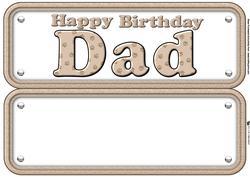 Dad Paw Print Insert