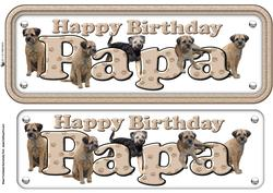 Papa & Border Terriers Name Sign