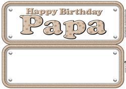 Papa Paw Print Name Sign