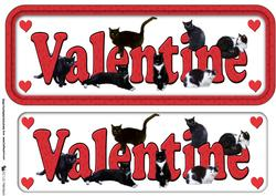 Black Cat Valentine Sign