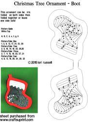 Christmas Tree Boot Ornment
