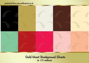 Gold Hearts Background Papers
