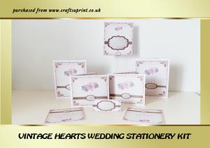 Vintage Hearts Wedding Stationery Kit