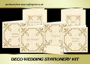 Deco Wedding Stationery Kit