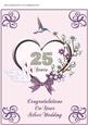 A4 Lavender Heart & Swans - Silver Wedding