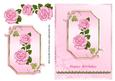 Pink Roses on Pink Plaque - Birthday