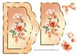 Scalloped Card Front with Peach Magnolias