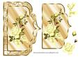 Elegant Scalloped Card Front with Yellow Roses