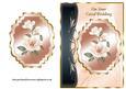 Coral Magnolias Art Nouveau Card Front - Coral Wedding