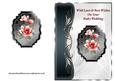 Red Magnolias Art Nouveau Card Front - Ruby Wedding