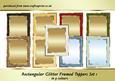Rectangular Glitter Frame Toppers Set 1