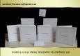 Ivory & Gold Swirl Wedding Stationery Kit