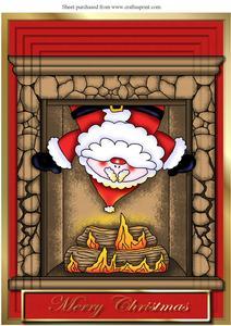Santa in the Chimney A4 Pyramid