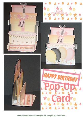 Birthday Card Pop-up Kit