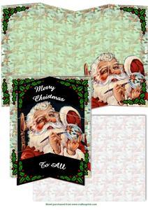 Holly Santa Magic Card Set