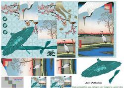 Oriental Crane Fold Card