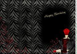 Posh Birthday Wishes Card Insert 2