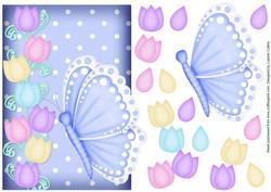 Butterfly Tulip Blue