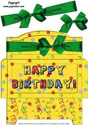 Green Bow Birthday Money Gift Envy