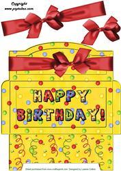 Red Bow Birthday Money Gift Envy