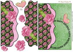 Scalloped Rose Card Topper