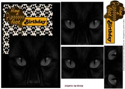 Prrrfect Birthday Card Topper