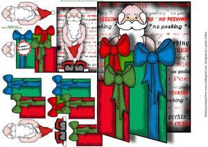 No Peeking Santa Card
