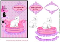Prrrfect Birthday Cat Card Topper