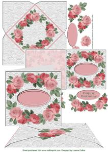 Lacey Roses Card Enclosure Seal Set