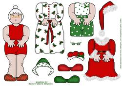 Dress-up Mrs. Claus