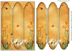Swansong Tri-panel Card Topper