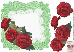 Red Battenburg Roses Card Front