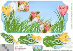Spring Crocus Pink 5x7 Fold Card