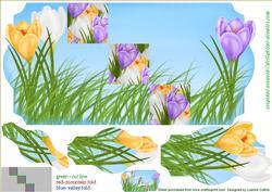 Spring Crocus Violet 5x7 Fold Card