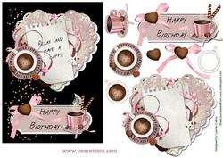 Birthday Coffee Relax Card Topper