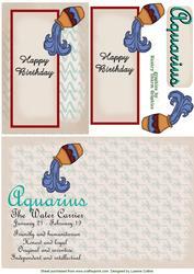 Aquarius Zodiac Card and Insert