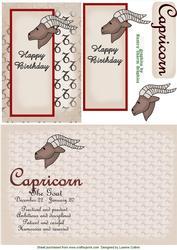 Capricorn Zodiac Card and Insert