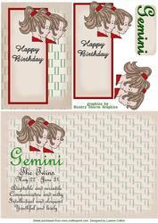 Gemini Zodiac Card and Insert