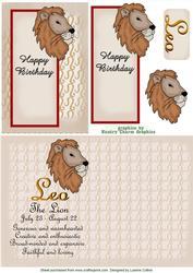 Leo Zodiac Card and Insert