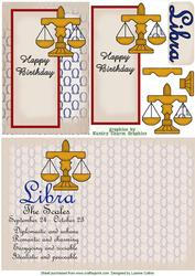 Libra Zodiac Card and Insert