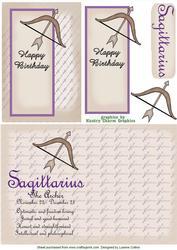 Sagittarius Zodiac Card and Insert