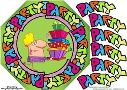 Party Around 8x8 Octogon Card Topper