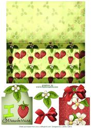 Strawberry Card and Tag Set